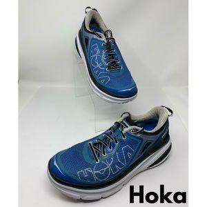 Hoka Blue and White Tennis Shoes